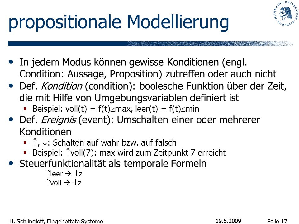 propositionale Modellierung