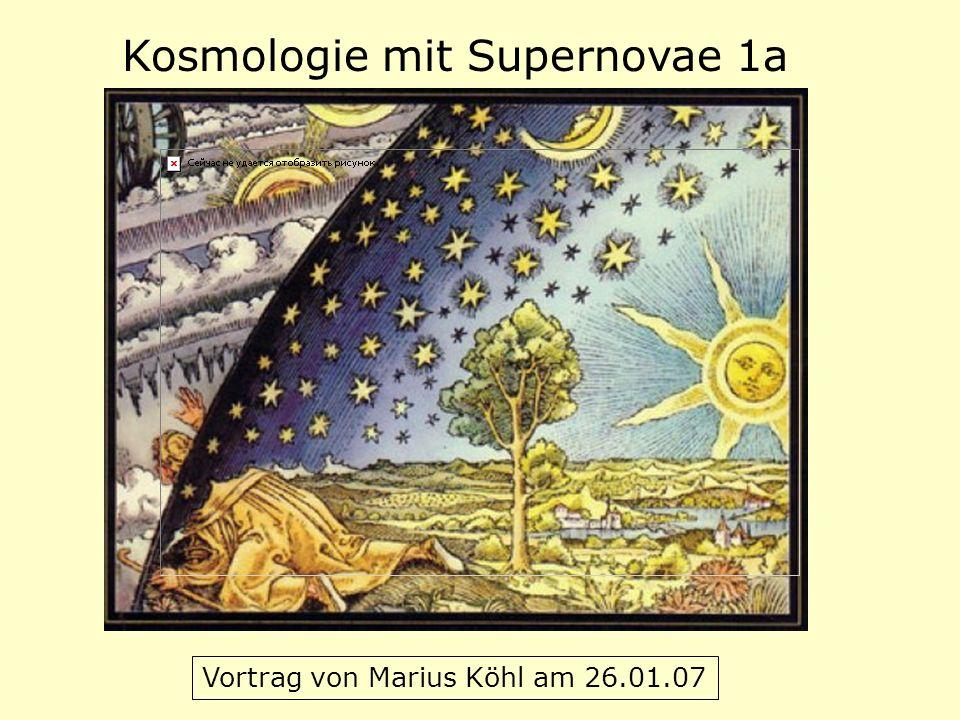Kosmologie mit Supernovae 1a