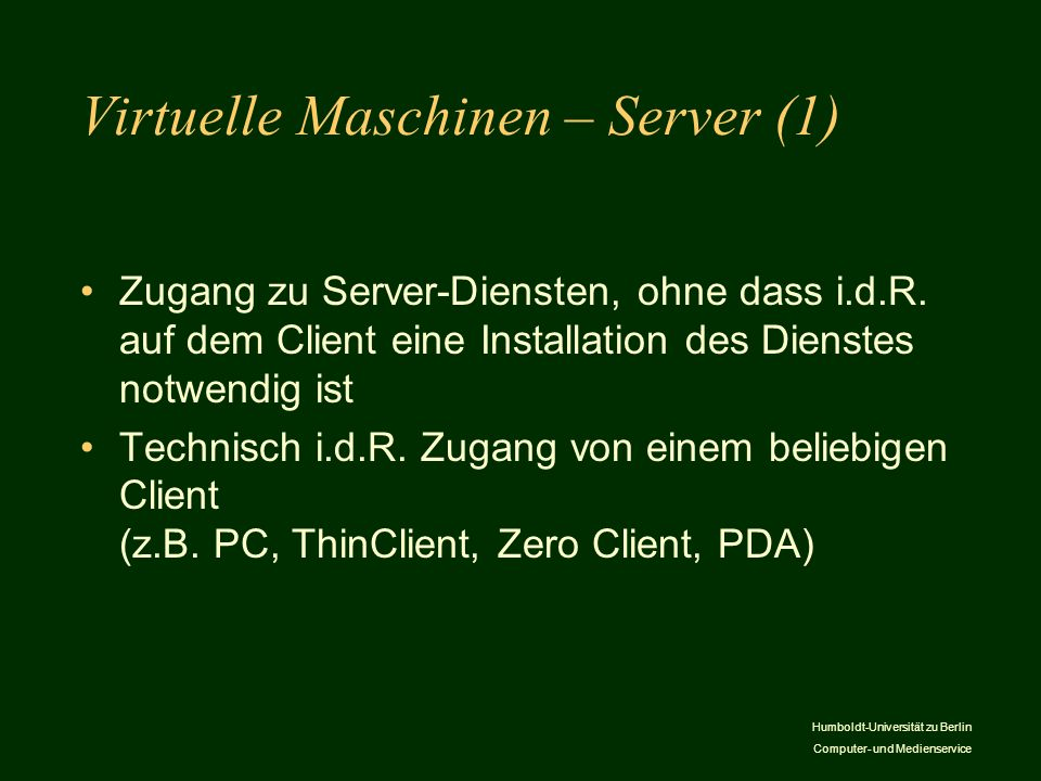 Virtuelle Maschinen – Server (1)