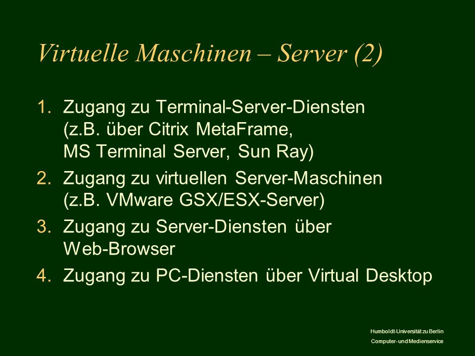 Virtuelle Maschinen – Server (2)
