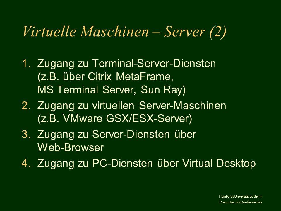 Virtuelle Maschinen – Server (2)