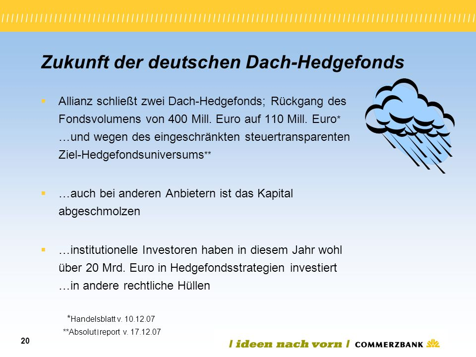 Zukunft der deutschen Dach-Hedgefonds