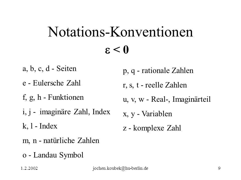 Notations-Konventionen