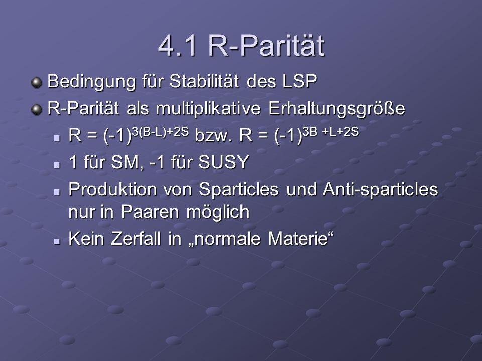 4.1 R-Parität Bedingung für Stabilität des LSP