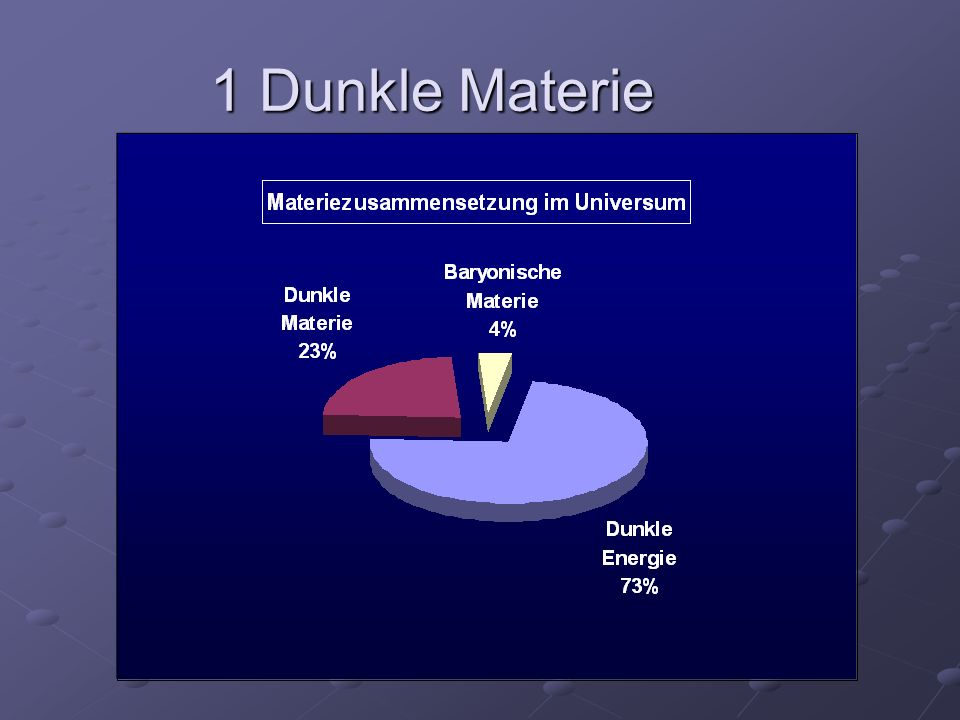 1 Dunkle Materie