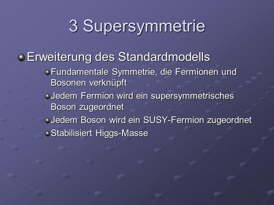 3 Supersymmetrie Erweiterung des Standardmodells