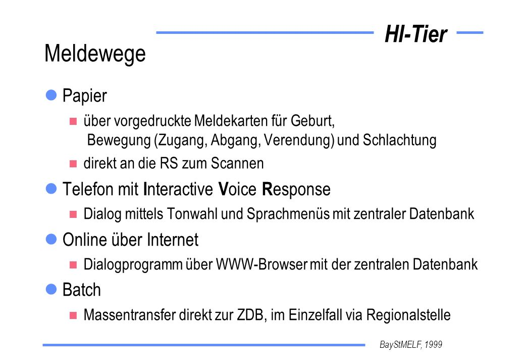 Meldewege Papier Telefon mit Interactive Voice Response