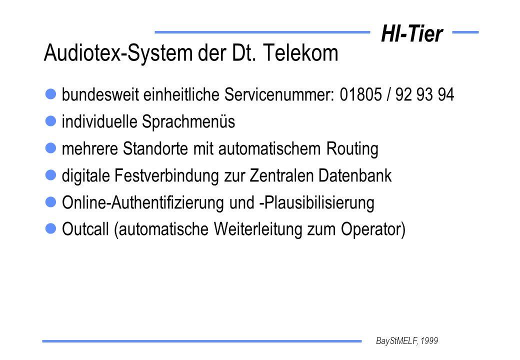 Audiotex-System der Dt. Telekom