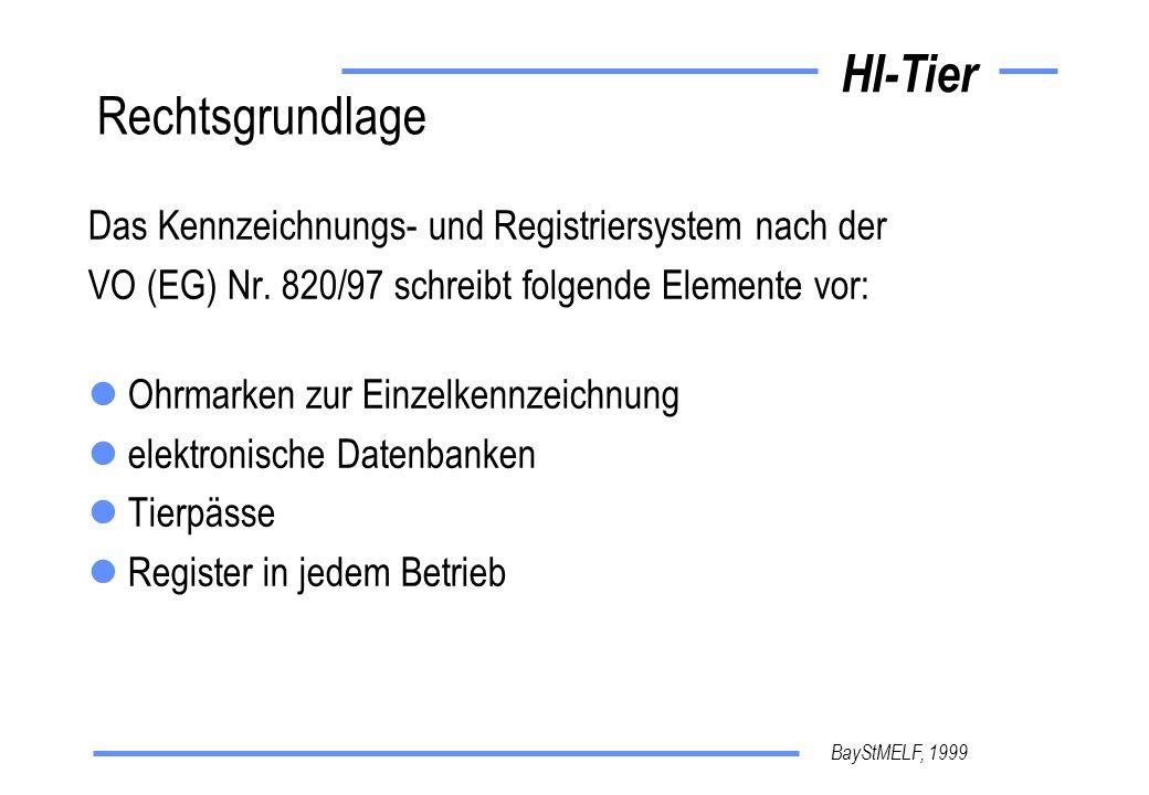 Rechtsgrundlage Das Kennzeichnungs- und Registriersystem nach der