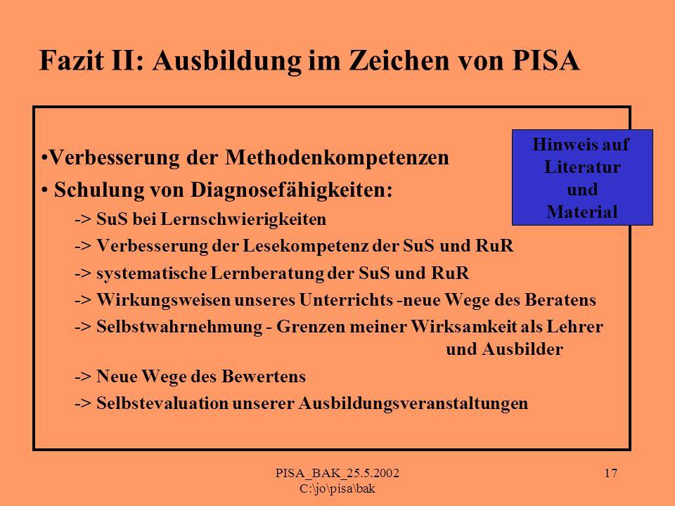Fazit II: Ausbildung im Zeichen von PISA