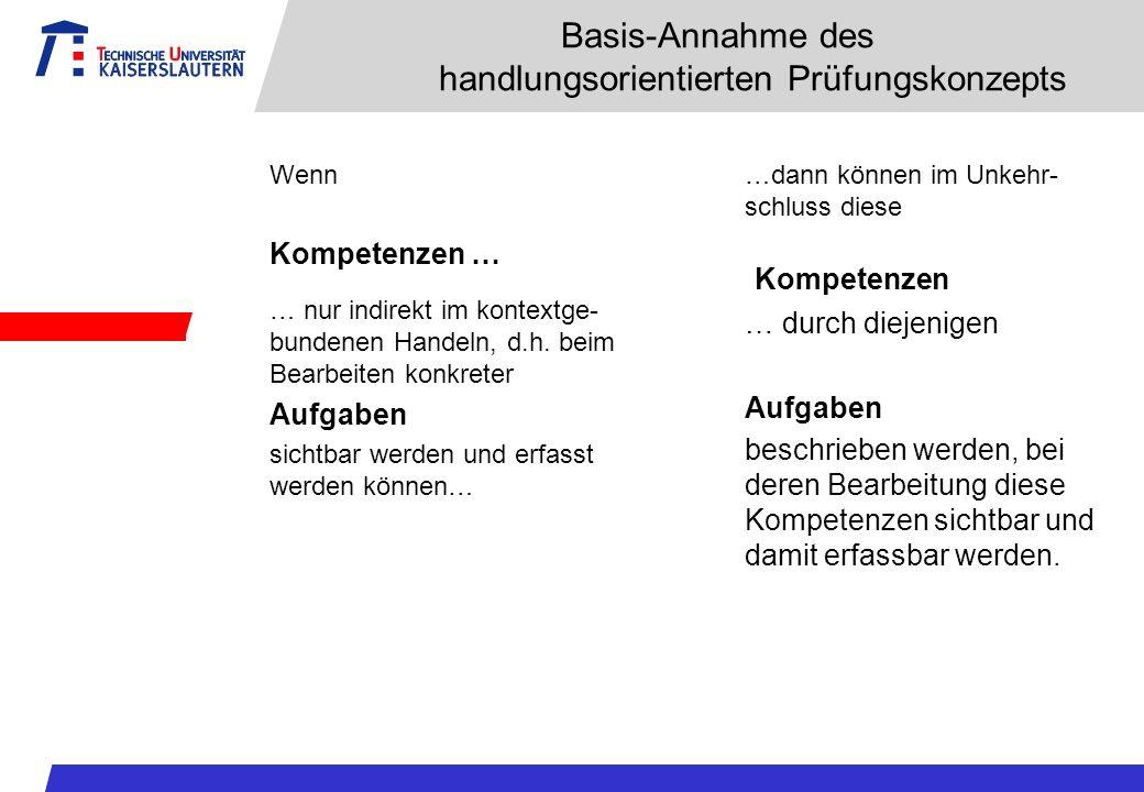 Basis-Annahme des handlungsorientierten Prüfungskonzepts