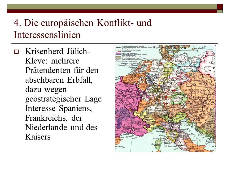 4. Die europäischen Konflikt- und Interessenslinien