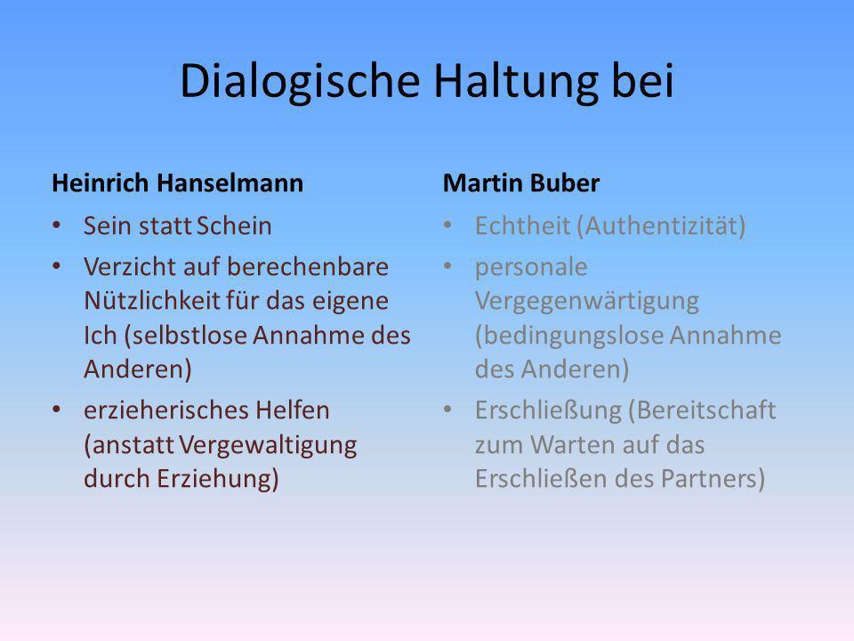 Dialogische Haltung bei