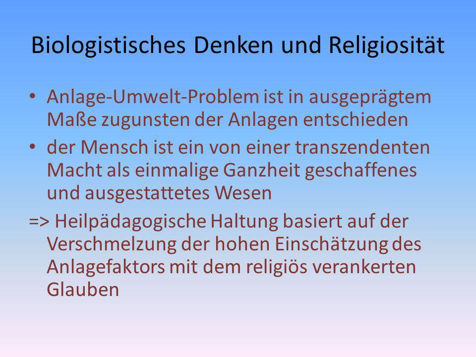 Biologistisches Denken und Religiosität