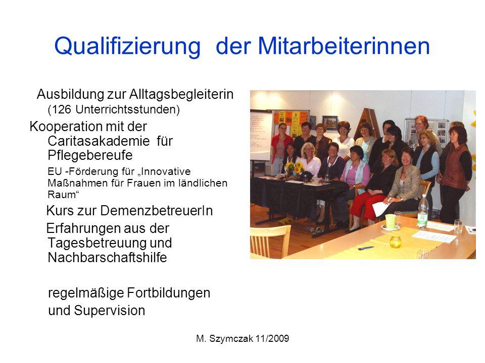 Qualifizierung der Mitarbeiterinnen