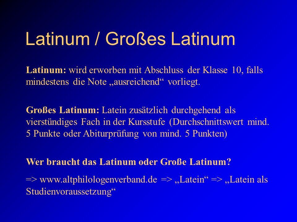 Latinum / Großes Latinum