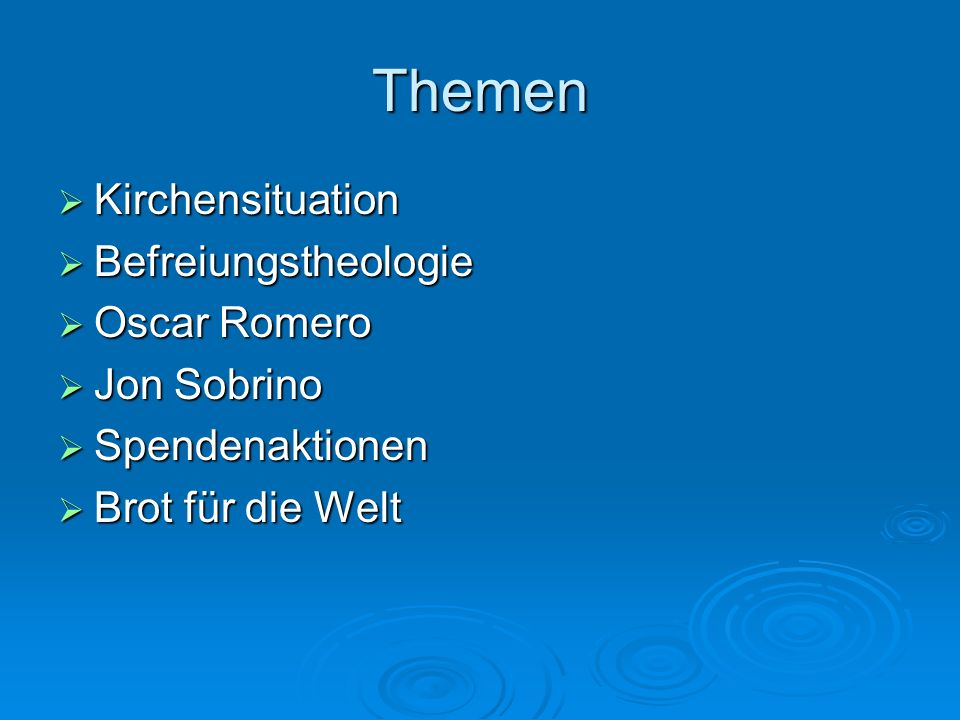 Themen Kirchensituation Befreiungstheologie Oscar Romero Jon Sobrino