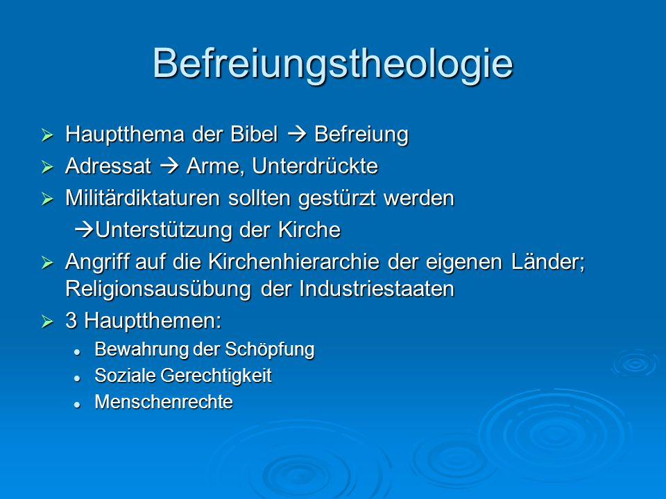 Befreiungstheologie Hauptthema der Bibel  Befreiung