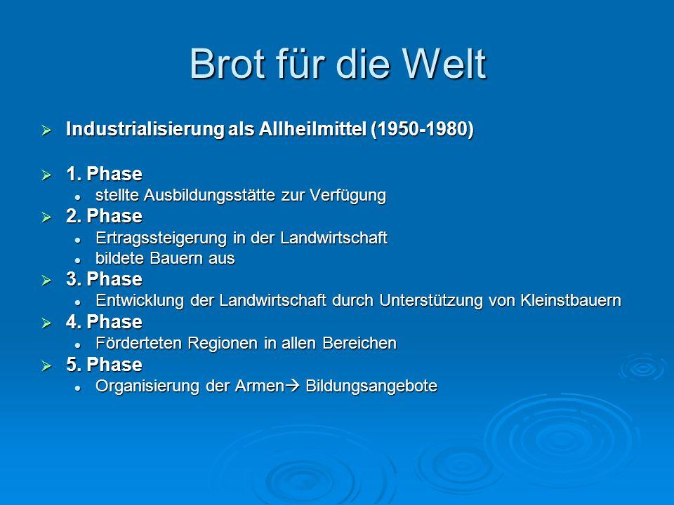 Brot für die Welt Industrialisierung als Allheilmittel (1950-1980)