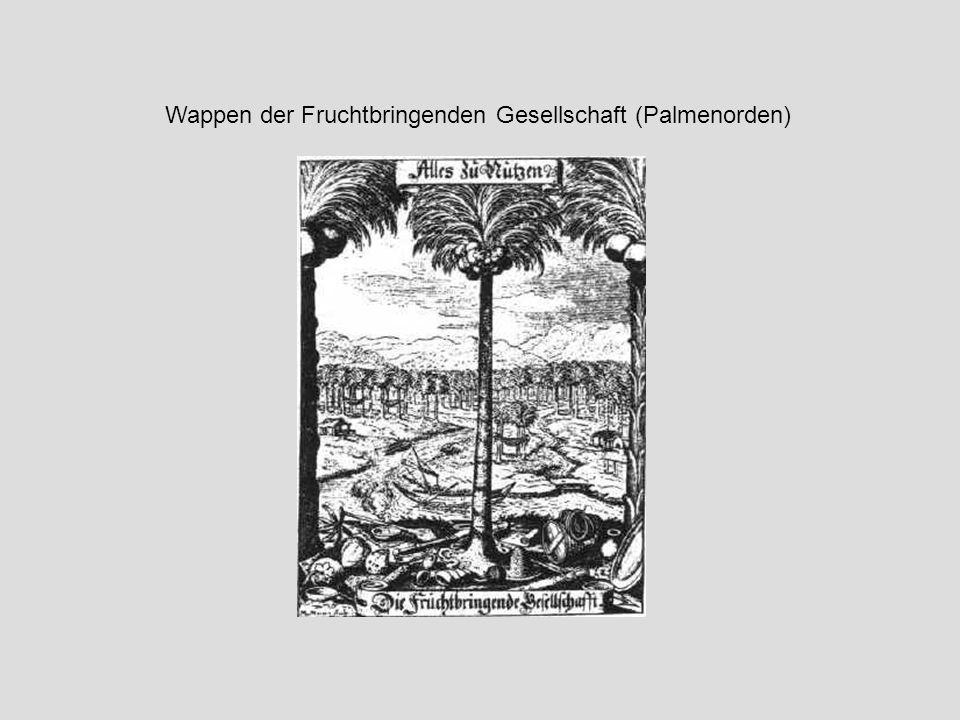 Wappen der Fruchtbringenden Gesellschaft (Palmenorden)
