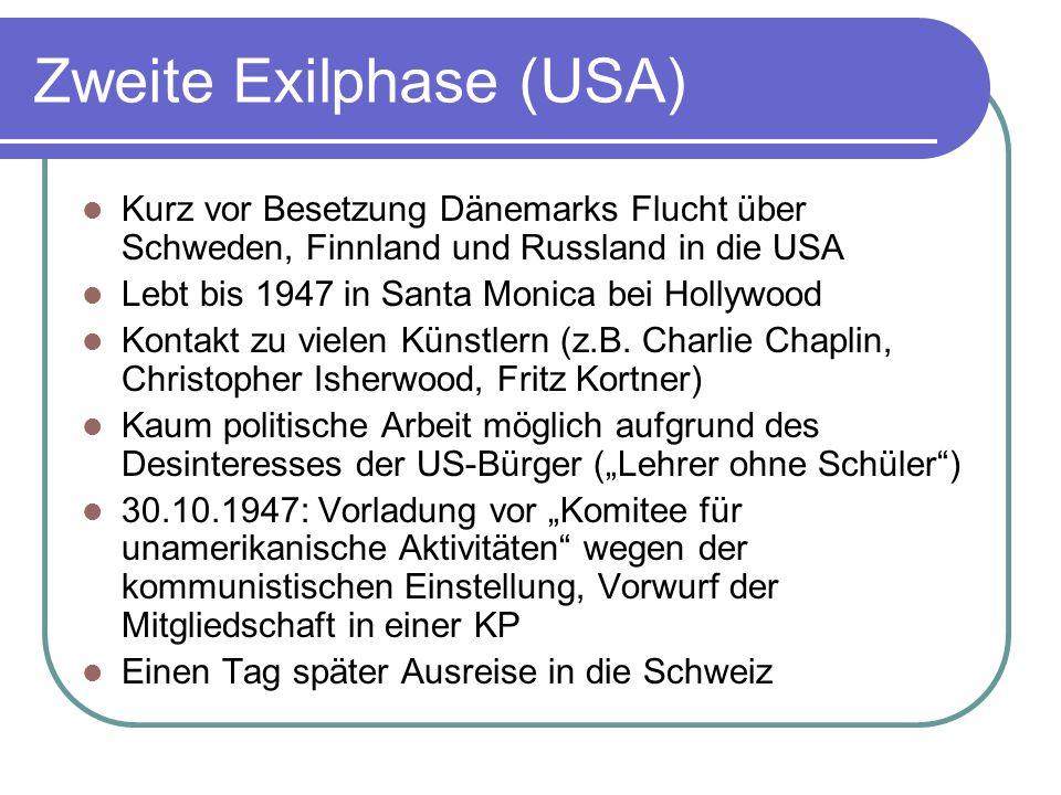 Zweite Exilphase (USA)