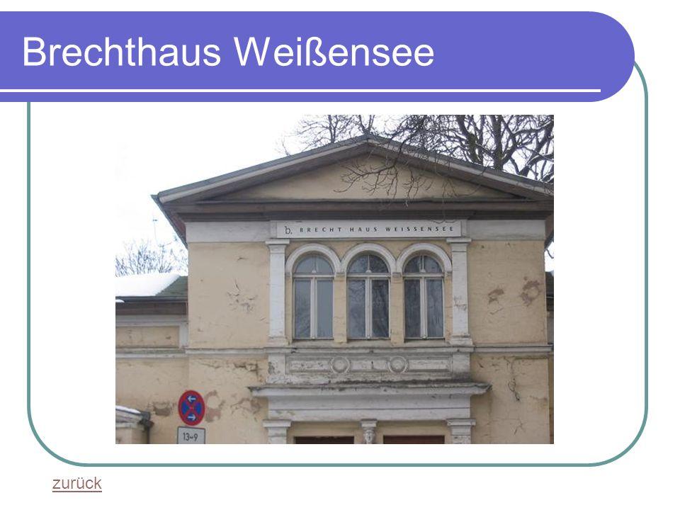 Brechthaus Weißensee zurück