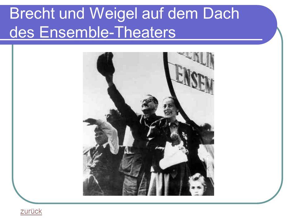 Brecht und Weigel auf dem Dach des Ensemble-Theaters