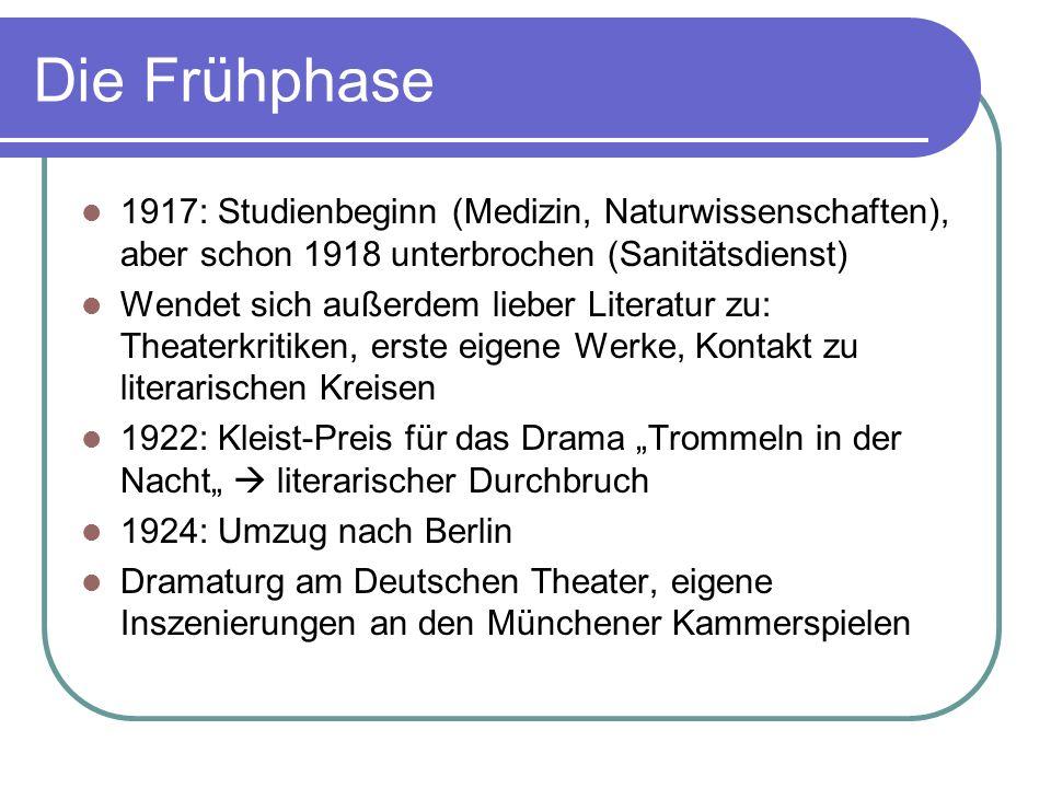 Die Frühphase 1917: Studienbeginn (Medizin, Naturwissenschaften), aber schon 1918 unterbrochen (Sanitätsdienst)
