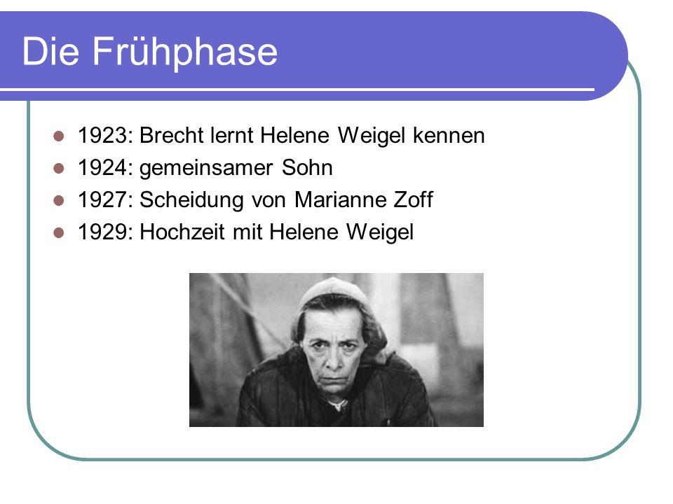 Die Frühphase 1923: Brecht lernt Helene Weigel kennen