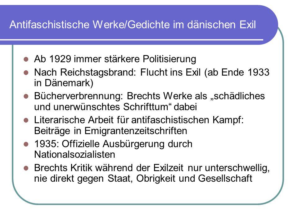 Antifaschistische Werke/Gedichte im dänischen Exil