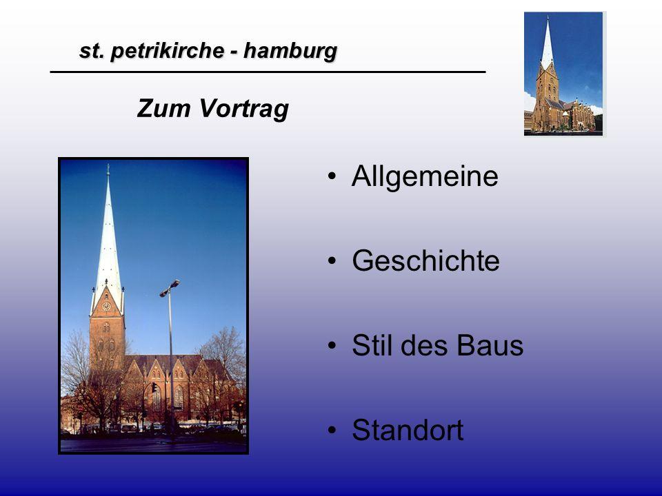 Zum Vortrag Allgemeine Geschichte Stil des Baus Standort