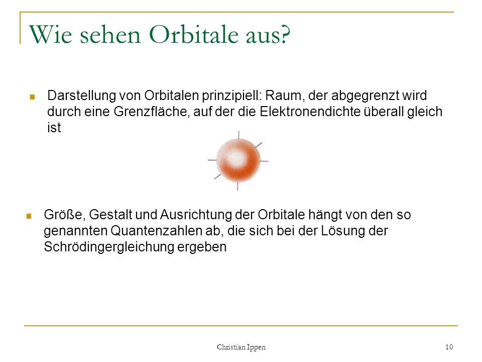 Wie sehen Orbitale aus