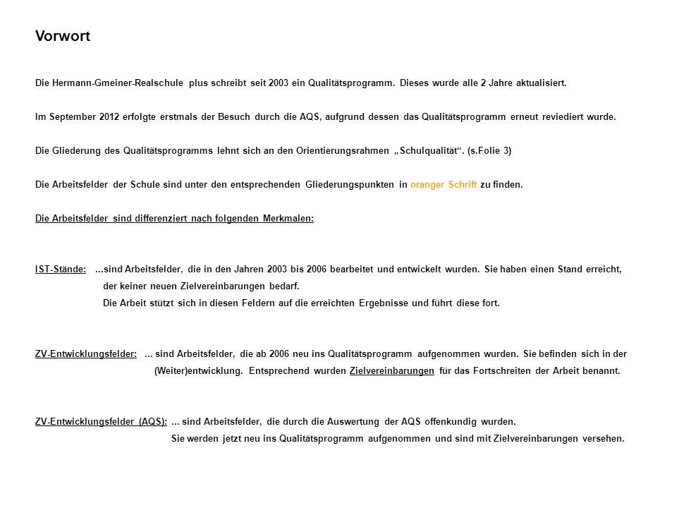VorwortDie Hermann-Gmeiner-Realschule plus schreibt seit 2003 ein Qualitätsprogramm. Dieses wurde alle 2 Jahre aktualisiert.