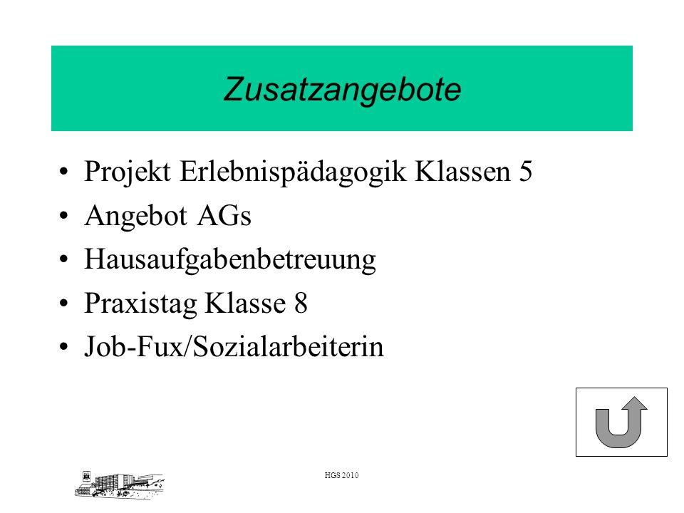 Zusatzangebote Projekt Erlebnispädagogik Klassen 5 Angebot AGs