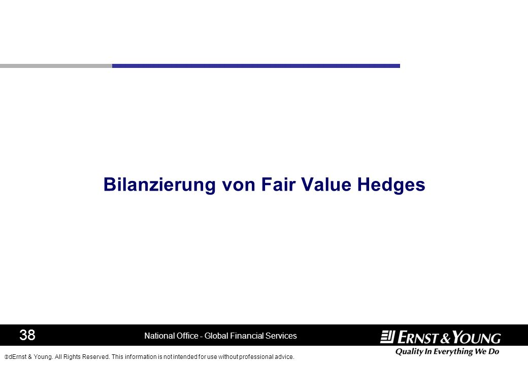 Bilanzierung von Fair Value Hedges