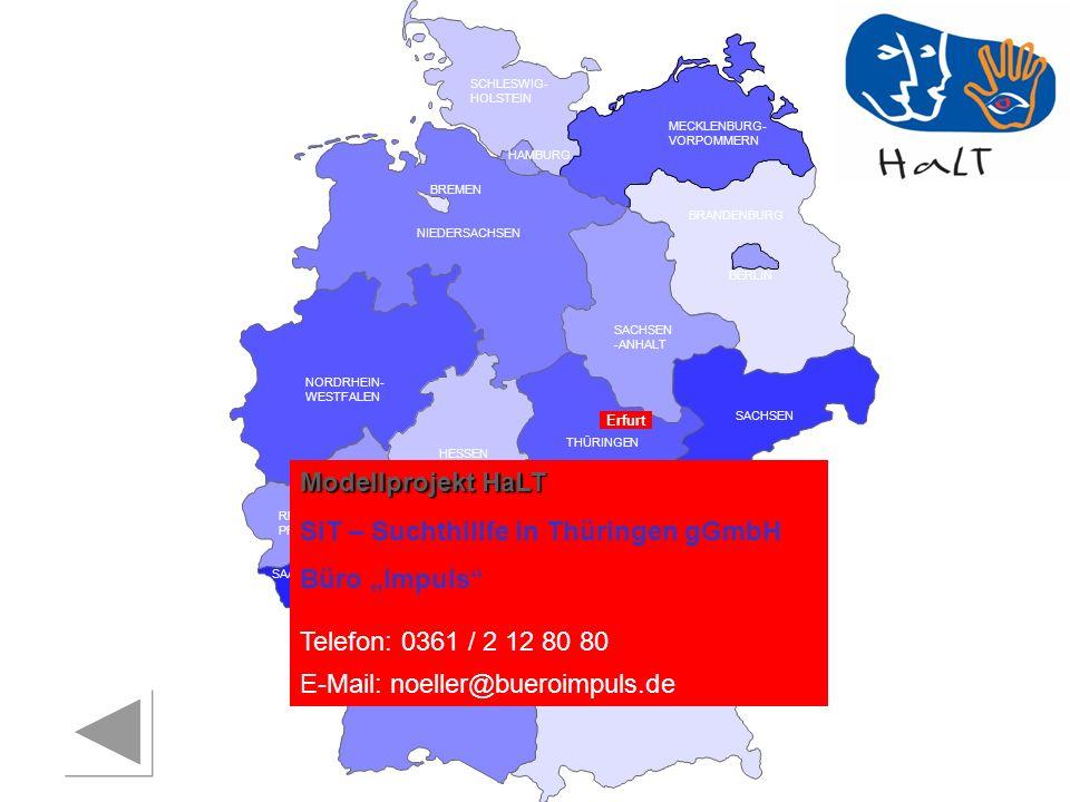 """SiT – Suchthillfe in Thüringen gGmbH Büro """"Impuls"""