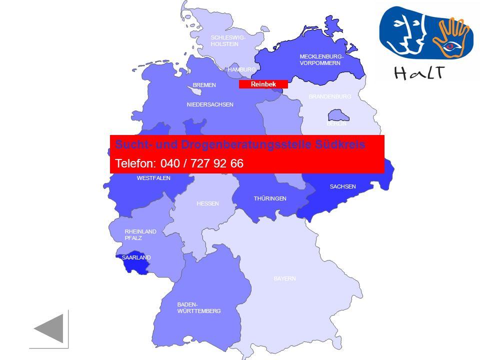 Sucht- und Drogenberatungsstelle Südkreis Telefon: 040 / 727 92 66