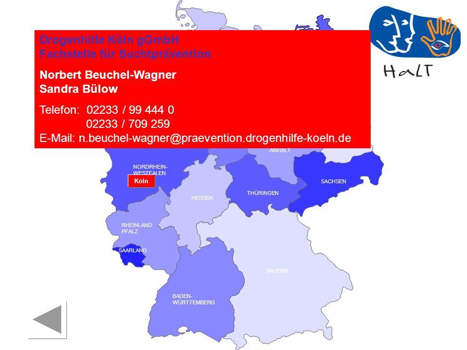 Drogenhilfe Köln gGmbH Fachstelle für Suchtprävention