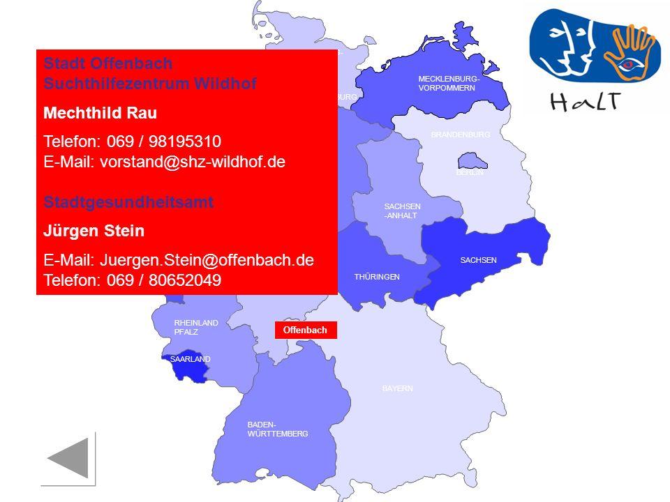 Suchthilfezentrum Wildhof Mechthild Rau Telefon: 069 / 98195310