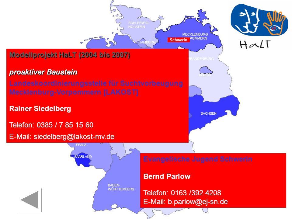 Modellprojekt HaLT (2004 bis 2007) proaktiver Baustein