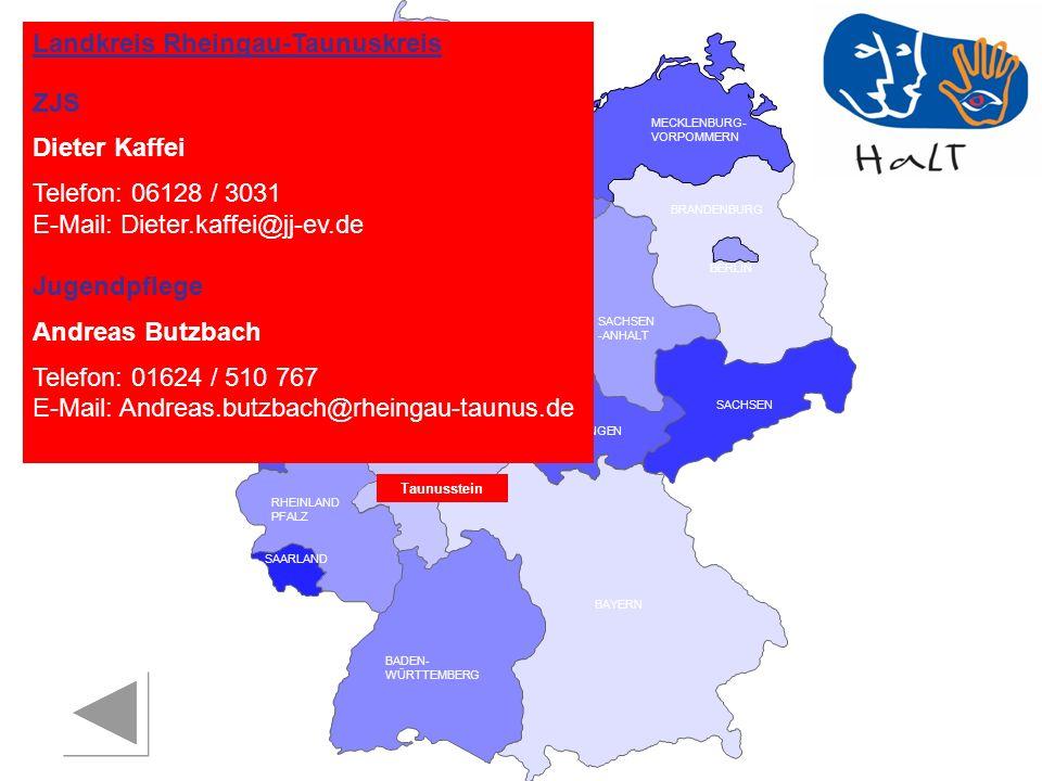 Landkreis Rheingau-Taunuskreis ZJS Dieter Kaffei Telefon: 06128 / 3031