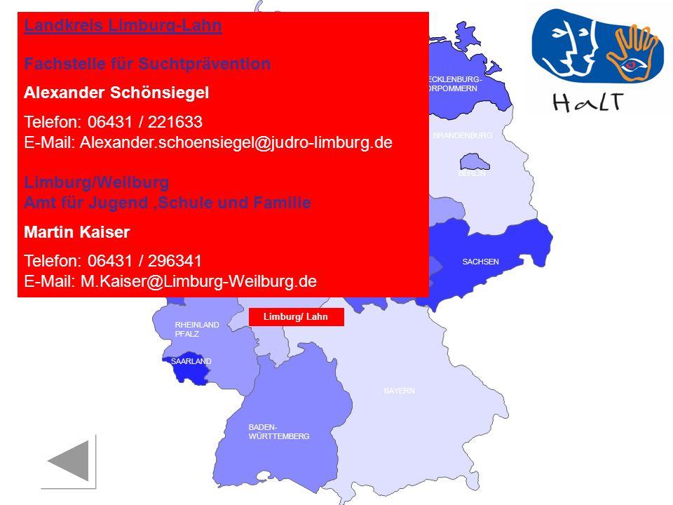 Landkreis Limburg-Lahn Fachstelle für Suchtprävention