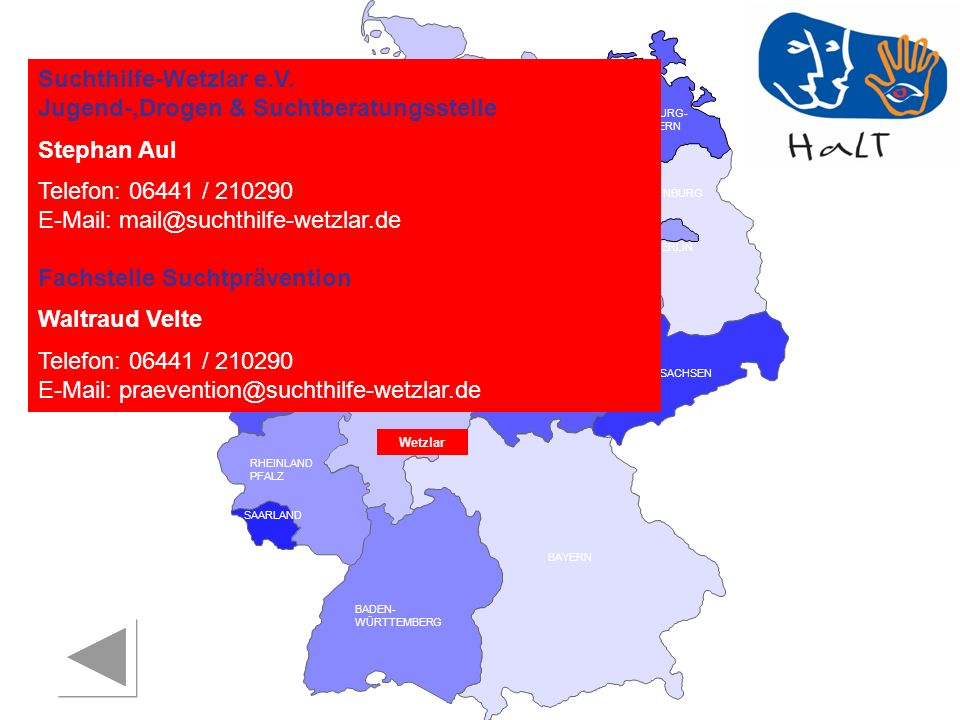Suchthilfe-Wetzlar e.V. Jugend-,Drogen & Suchtberatungsstelle