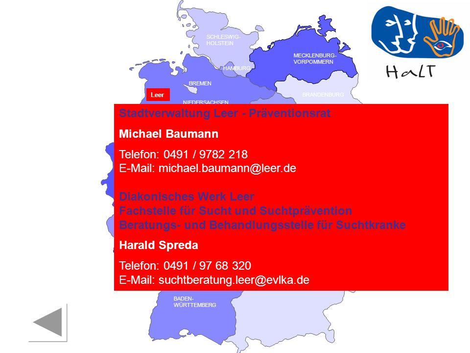 Stadtverwaltung Leer - Präventionsrat Michael Baumann