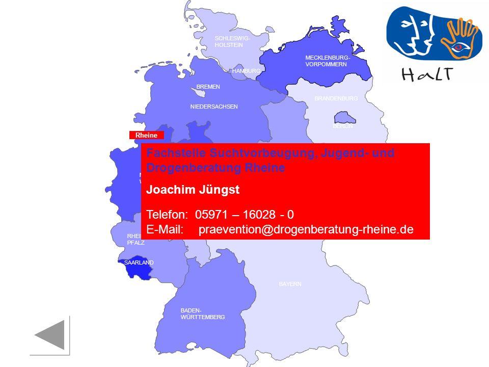 Fachstelle Suchtvorbeugung, Jugend- und Drogenberatung Rheine