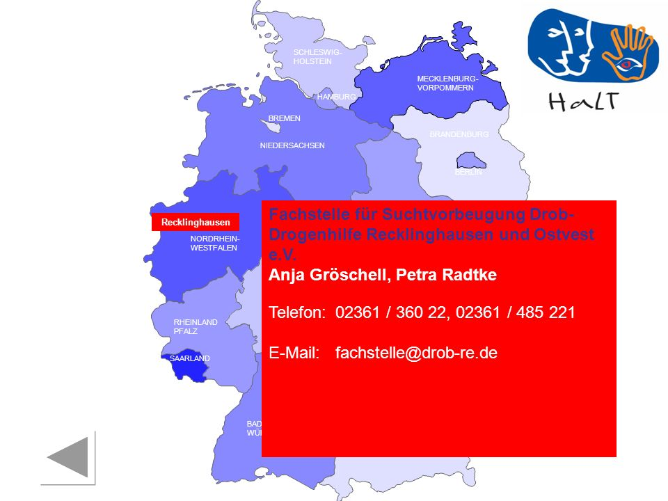 Anja Gröschell, Petra Radtke Telefon: 02361 / 360 22, 02361 / 485 221