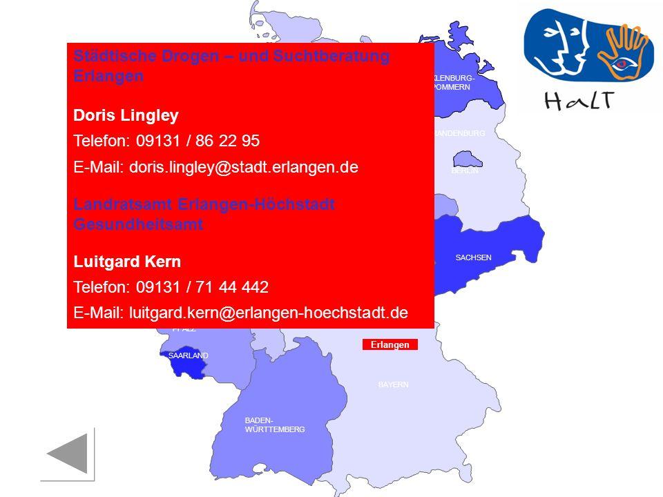Städtische Drogen – und Suchtberatung Erlangen
