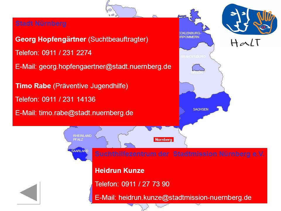 Georg Hopfengärtner (Suchtbeauftragter) Telefon: 0911 / 231 2274