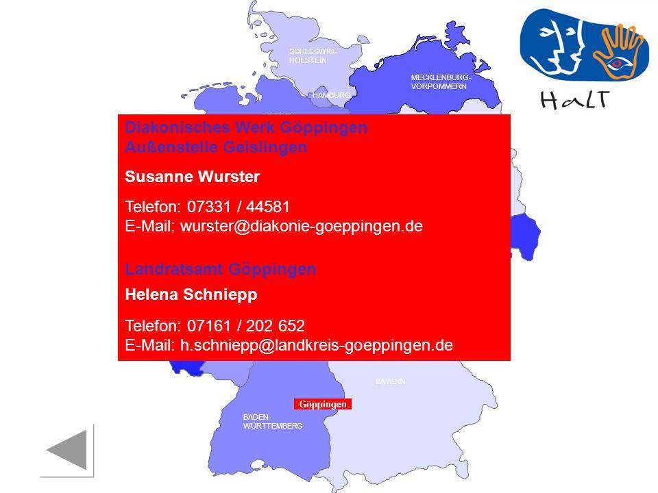 Diakonisches Werk Göppingen Außenstelle Geislingen Susanne Wurster