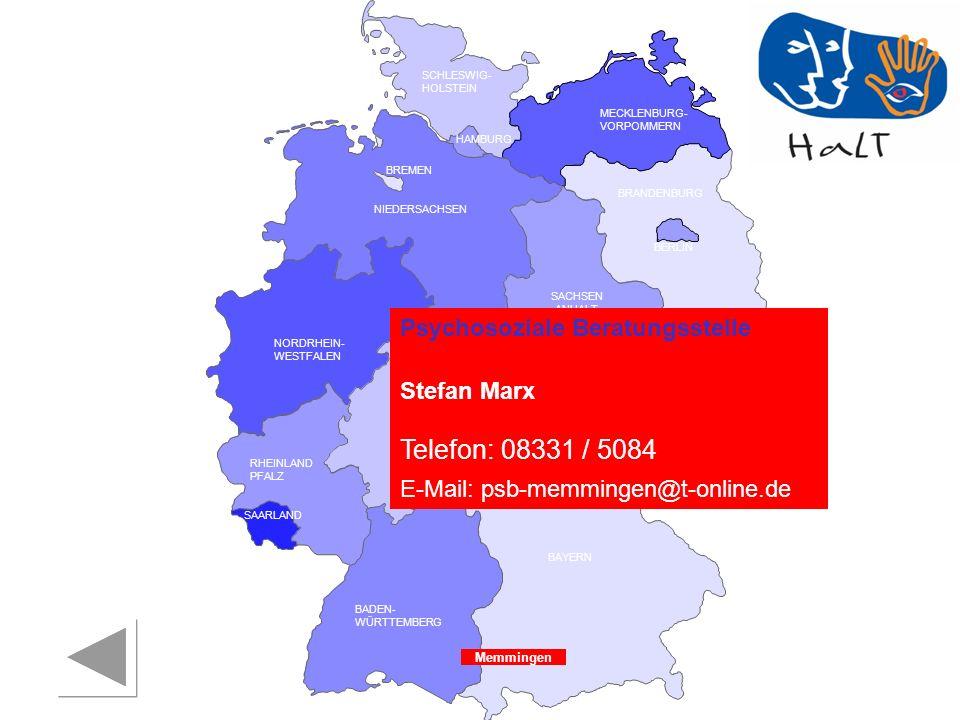 Telefon: 08331 / 5084 Psychosoziale Beratungsstelle Stefan Marx